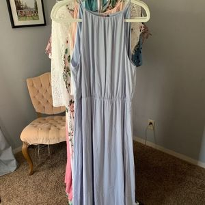 H&M Powder Blue Maxi Dress